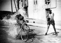 Summertime bike racing
