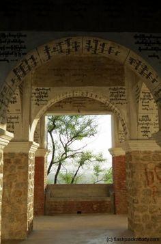 Temple script at Mandalay Hill Temple