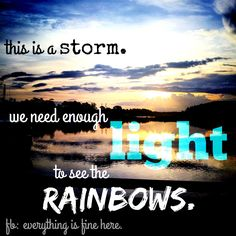 We need enough light to see the rainbows. #orlando #lgbt #lovewins