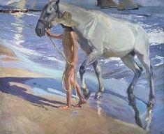 Joaquin Sorolla - Bañando el caballo