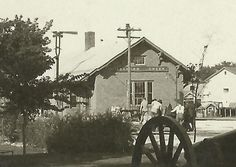 johnson creek wi | Johnson Creek Wi RP c1920 Depot Cannon Elevated Bandstand Madison ...