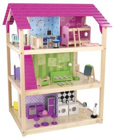 Dollhouse Décor - KidKraft So Chic Dollhouse with Furniture ** Click image for more details.