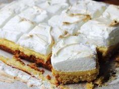 Lemon meringue slice recipe