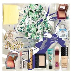 I want to share with you some summer prints and colors to let the summer vibe to begin. I hope you'll like it and STAY HAPPY! Summer Prints, Maybelline, Yves Saint Laurent, Shoe Bag, Nars Cosmetics, Avon, Venus, Benefit, Polyvore