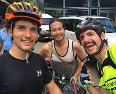 Chema, Daniel y Juan Dual, cicloviajeros