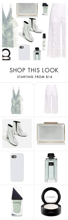 """""""Lalo top"""" by juliehalloran ❤ liked on Polyvore featuring LALO, Hillier Bartley, LMNT, Gucci, GUiSHEM, MAC Cosmetics and Kilian"""