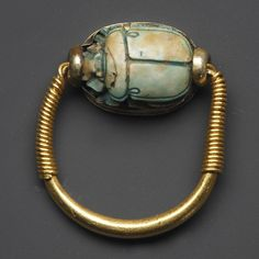 Ring w/scarab of Thutmosis, Egypt 18 Dynasty, 1479-1458 B.C.