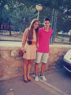 Paula en su graduacion con su hermano Ruben