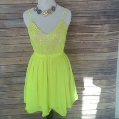 Yellow sundress with open back Take me into the sunset dress.                                    100% polyester Dresses Mini