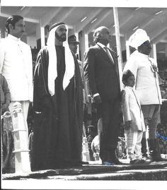 Col. Khan Mohd Aslam Khan Niazi, Raees Isakhel on stage in Lahore, 1974, with Prime Minister of Pakistan, Zulfiqar Ali Bhutto and Sheikh Zayed Bin Sultan, Ruler of UAE,
