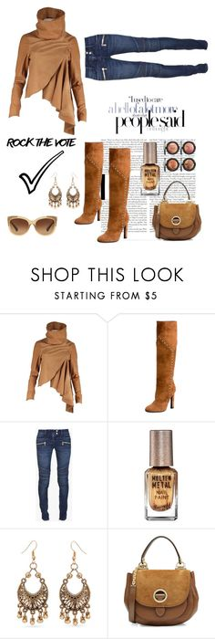 """""""Rock the Vote!"""" by im-karla-with-a-k ❤ liked on Polyvore featuring Nicholas K, Yves Saint Laurent, Balmain, Lipsy, Red Camel, MICHAEL Michael Kors and Coach"""