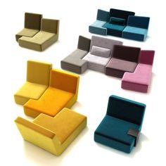Confluences sofas at Ligne Roset Ikea Furniture, Cool Furniture, Modern Furniture, Furniture Design, Sofa Design, Ligne Roset Sofa, Modul Sofa, Unique Sofas, Soft Seating