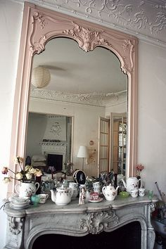 Mirror and Fireplace