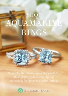 Discover stunning engagement rings pre-set with ethically sourced aquamarines.