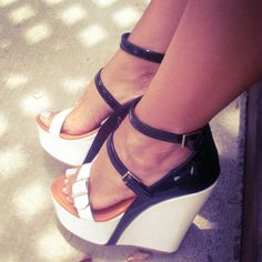Black and White! #shoes #wedges