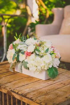 lovely floral centerpiece from Twig & Twine, wedding planned by Grand Engagements Wedding Planning and Design, photo by Closer to Love Photography | via junebugweddings.com