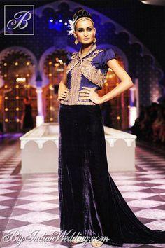 Raghavendra Rathore designer velvet lehenga