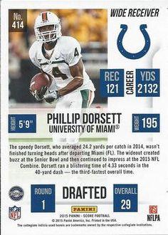 2015 Score #414 Phillip Dorsett Back