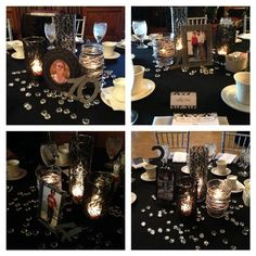 Here's a great 50th birthday party idea - Pull out all those old black and white photos of the guest of honor and create the infamous 5-0 as a focal wall decor. Description from pinterest.com. I searched for this on bing.com/images