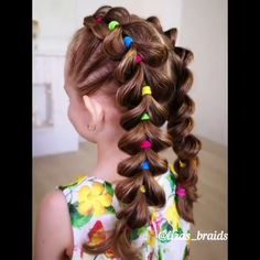 Bright summer braids Little Girl Hairstyles Braids Bright summer Lil Girl Hairstyles, Box Braids Hairstyles, Cute Kids Hairstyles, Toddler Girls Hairstyles, Amazing Hairstyles, Hairdos, Hairstyle Ideas, Girl Hair Dos, Hair Style Girl