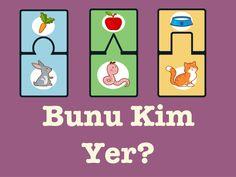 Hayvanlar ve yediği yiyecekler interaktif oyun #dilvekonuşmaterapisi #özeleğitim Dil, Educational Games For Kids, Puzzle, Activities, Educational Games For Children, Puzzles, Kids Educational Games, Quizes