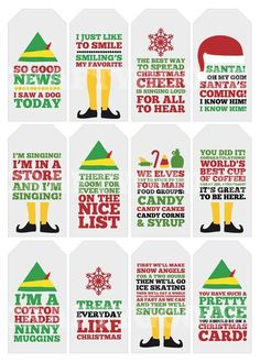 Elf Quote Christmas Gift