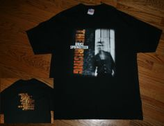 Vintage 2002 Bruce Springsteen THE RISING Concert Tour T-Shirt tee-Mens XL-music