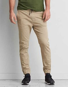 AEO Active Flex Jogger Pant, Infantry Khaki | American Eagle Outfitters