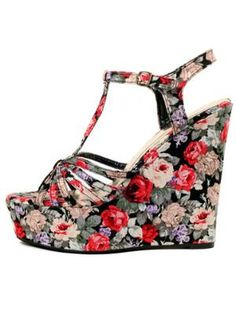 GYPSY WARRIOR - Iris Floral Platform Wedges... just bought these! love them!