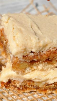 Maple Frosted Walnut Squares ~ the most delicious treats imaginable. A shortbread crust, a buttery, chewy nut center, and rich maple frosting Grill Dessert, Bon Dessert, Eat Dessert First, Dessert Bars, Dessert Food, Dessert Simple, Cake Bars, Baking Recipes, Cookie Recipes