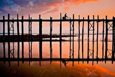 Sunset over U Bien Bridge
