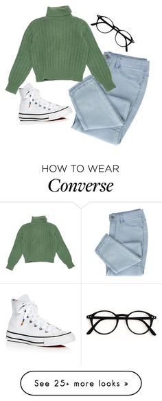 """Untitled #505"" by brighterstars12 on Polyvore featuring Yves Saint Laurent and Converse"