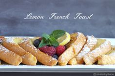 French toast with the wonderful addition of lemon, sweet and tangy with fresh lemon juice, topped with fruit and Land O Lakes Butter with Canola Oil and powdered sugar. The perfect breakfast for any day, celebrations and brunches.