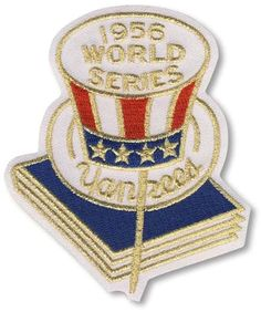 a1cf584d3 New York Yankees 1956 World Series Anniversary and Commemorative Patch - MLB
