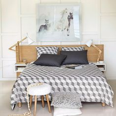 Tête de lit 160 avec rangements en chêne 160 cm