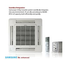 Samsung Ceiling Cassette Heat Pump/AC | Samsung Mini Split Systems - Vivace, Neo Forte, Classic