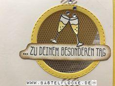 """www.bastelflocke.de - """"...zu einem besonderen Tag"""" - damit gehe ich heute bei der Match the Sketch Challenge ins Rennen. #matchthesketch #einbesonderertag #osterglocke #vanillepur #stitched #rundstanze #gummiapan #bigshot #tüll #sekt #gläser #stempel #lawnfawn #stazon #wassertankpinsel #Blubberbläschen #glitzersteine #zudeinembesonderentag #stampinup #blumenfürdich #savanne #gorgeousgrunge #bordüre #saleabration #delicatedetails"""