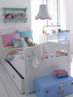 Girl pastel color decor for kids room