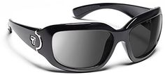7 Eye Air Dam Sunglasses Leveche, Sharp View Clear Lens, Glossy Black Frame, S-M, Women. AirDam is Designed for Better Fit. We designed AirDam models to allow some venting between the frame. Enhanced Protection Feels Great. The textured surface of the closed-cell foam sits comfortably. Lens Color: Clear. Frame Color: Glossy Black. Size: Small - Medium.