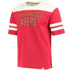 9edc4de7ee4 San Francisco 49ers Fanatics Branded True Classics Throwback Slub T-Shirt –  Scarlet/Cream