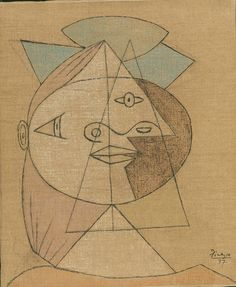 Head of a Woman, 1937-38 Pablo Picasso (Spanish, 1881-1973)