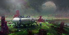 John Wallin Liberto's concept art for Astroneer. (1280×661)