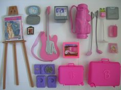 Barbie accessories lot that I bought on E-Bay.