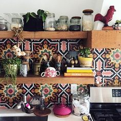 I love this - especially the tiles from Cement Tile Shop.