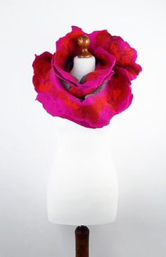 Pink+Scarf++Felted+Scarf++Rose+Scarf++ALICE+IN+by+filcant+on+Etsy,+$129.00