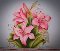 Seeds_catalogs-03078 - 096-amaryllis johnsonii [2196x3369] Blue Roses Wallpaper, Mixing Paint Colors, Lilies Drawing, Paper Quilling Cards, Flower Sketches, Art Drawings For Kids, Mural Art, Paint Designs, Fabric Painting