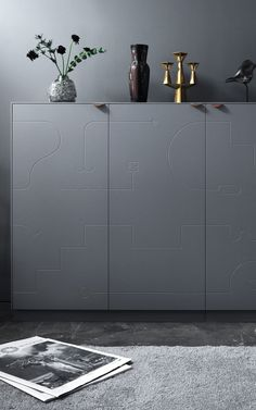 Superfront will elevate a basic IKEA sideboard with new fronts by Swedish artist Klas Ernflo, who created the non-repetitive Delirium Collection.