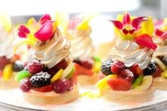Some of the prettiest dessert you will ever eat.