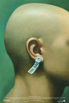 """MP471. """"THX-1138"""" Movie Poster by B.D. Fox Independent (George Lucas 1971) / #Movieposter"""