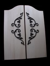 Saloon Doors | Custom Saloon Doors | Saloon Door Hinge Hardware - would be cute to separate master bed / bath